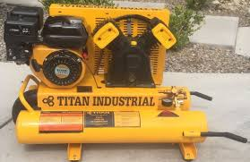new titan industrial dual tank air compressor gas fuel 5 5 hp 8