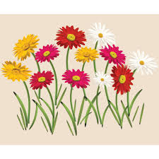grass and flower wall decals to add to your jungle wall mural zinnia flowers wall stickers