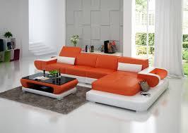 canapé d angle orange canapé d angle avec éclairage en cuir pas cher