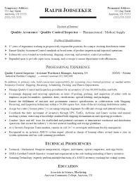 quality assurance resume qa qc resume pertamini co