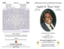 Memorial Pamphlets Samples 100 Memorial Pamphlets A Sample Funeral Program Template