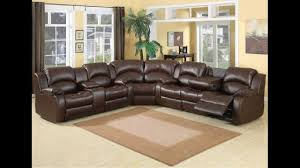 3 pc samara chocolate bonded leather sectional sofa with recliners