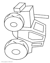 easy tractor colouring pages for preschoolers