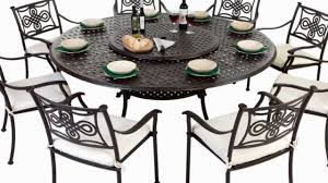 Garden Patio Table 8 Seater Cast Aluminium Garden Furniture Set With Seat Pads