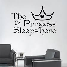 wall art aya diy wall stickers wall decals the princess sleeps wall art aya diy wall stickers wall decals the princess sleeps here wall stickers for