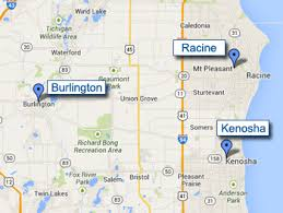 kenosha map arcade drivers inc racine kenosha and burlington