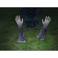 halloween city sherwood park zombie arm lawn stakes set of 2 buycostumes com