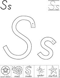 alphabet letter s activity worksheet d u0027nealian preschool