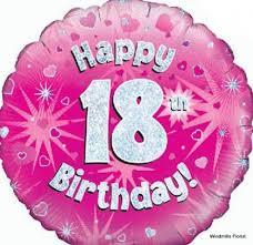 balloons for 18th birthday happy 18th birthday single balloon windmills florist