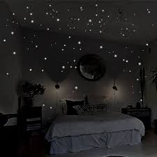 wall decals stickers home decor home furniture diy uk trendy 407pc glow in the round dot dark star stickers luminous wall stickers