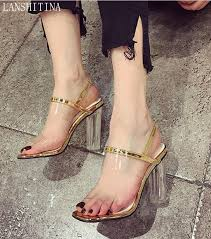 online get cheap clear heeled sandals aliexpress com alibaba group