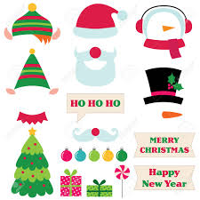 christmas photo booth props christmas santa and snowman party photo booth props royalty