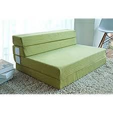 memory foam sofa bed amazon com merax tri fold foam folding mattress and sofa bed for