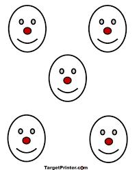 printable smiley face shooting targets