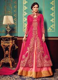 rani pink colour rani colour heavy party wear sharara suit lehengas pinterest