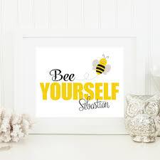 bumble bee nursery art print