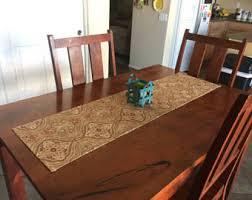 brown table runner etsy
