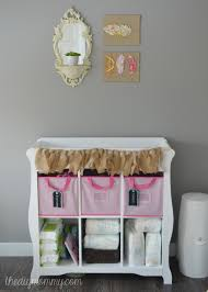 Changing Table Shelves by Baby B U0027s Soft Boho Nursery The Diy Mommy