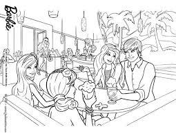 Coloriages coloriage de barbie ken et ses amies  frhellokidscom