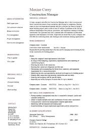 project management resume templates construction project manager resume cliffordsphotography