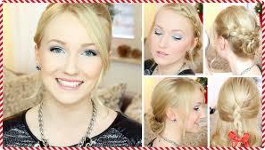 Hochsteckfrisuren Mittellange Haare Einfach by 5 Einfache Festliche Frisuren Für Weihnachten Mittellanges