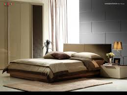 bedroom interior brown white cloth bed linen foam pillows wooden