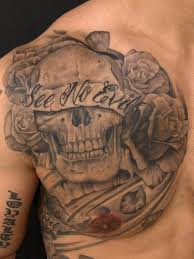 evil clown skulls tattoos chest for and