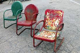 Retro Patio Furniture For Sale by Metal Patio Chairs With Cushions