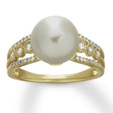 v shape diamond with fresh water pearl ring christine k jewelry 52 pearl engagement rings styles brides
