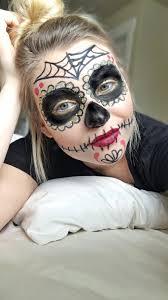 Sugar Skull Halloween Makeup Sugar Skull Halloween Makeup Tutorial Blonde U0026 Ambitious Blog
