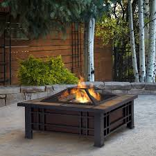 cocktail table fire pit pleasing real flame w black steel fire pit shop fire pits at to