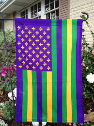 large mardi gras american black and gold flags new orleans flags saints