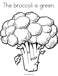 The Broccoli Is Green Coloring Page Twisty Noodle Green Coloring Page