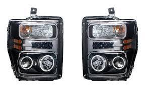 jeep commander black headlights e e ford f 250 duty 08 up projector headlight halo black