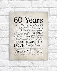 gifts for 60 year 60th anniversary gift 60 years married or any year gift for