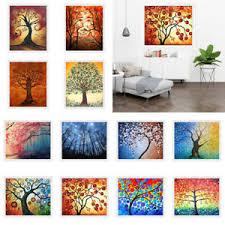 tree of life home decor oil painting tree of life canvas print wall art mural hanging home