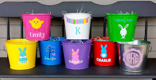 personalized easter buckets personalized easter