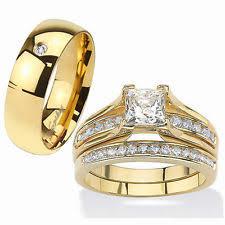 gold wedding ring sets 14k gold wedding ring set ebay