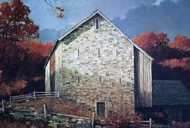 pennsylvania bank barn note on slide painting by eric sloane