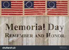 Betsy Ross Flags Memorial Day Greeting Usa Patriotic Old Stock Photo 644879614