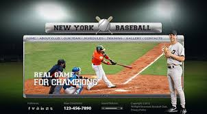 baseball club html5 template on behance