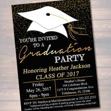 academy graduation party editable graduation party invitation high school graduation