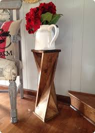 How To Make A Wooden End Table by Wood Projects Make This Diy Twisted Wood Side Table For Around