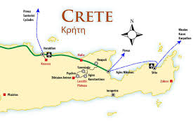 Map Of Greece With Cities by Crete Location Map And Travel Guide