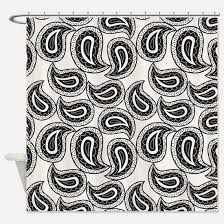Paisley Shower Curtains Black And White Paisley Shower Curtains Cafepress