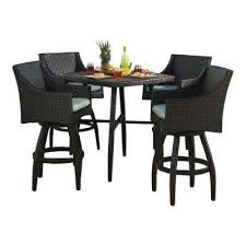 Patio Bar Table Set Bar Height Dining Sets Outdoor Bar Furniture The Home Depot