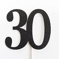 30 cake topper black glitter 30 cake topper 30th anniversary