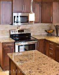 maple cabinets in kitchen update with quartz countertops and