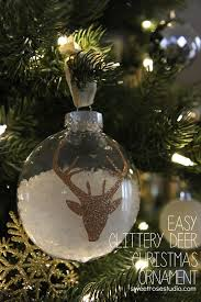 easy glittery deer ornament tree silhouettes