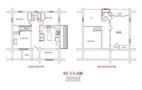 2 Story Log Cabin Floor Plans Log Home Design Plans